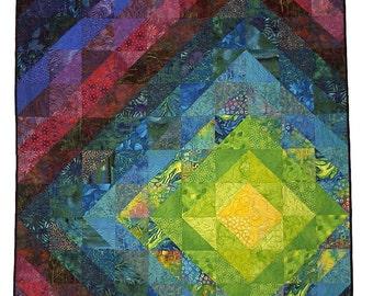 PDF Quilt Pattern, Fantasia, Easy Quilt Pattern, Instant Download Digital Quilt Pattern