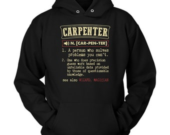 I'm A Carpenter I'm Never Wrong Funny Occupation Mens Hoodie TYyIis