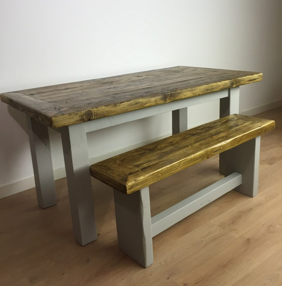 Dining Tables Benches: Reclaimed Pine Dining Table & Bench