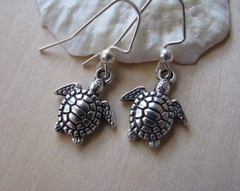 Bridesmaid Jewelry Turtle Earrings Bridesmaid Earrings Ocean Sea Turtle