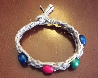 Handmade Hemp Beaded Bracelet