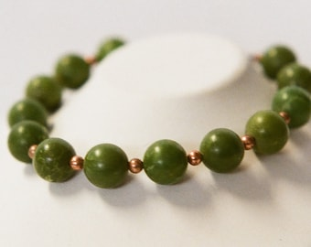 Yellow-green turquoise bracelet
