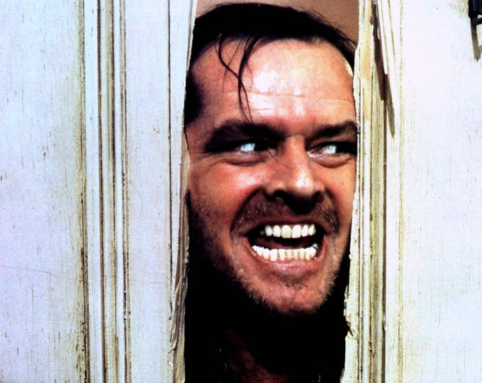 """Jack Nicholson in the Film """"The Shining"""" Saying the Famous Line From the Movie """"Here's Johnny"""" - 8X10 or 11X14 Publicity Photo (AA-714)"""