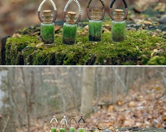 Tiny Forest Terrarium Necklace
