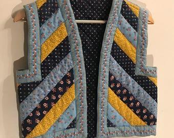 Vintage 1970's  Patchwork Vest - That 70'S Show