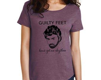 George Michael Guilty Feet T-shirt loose tshirt top tee Careless Whisper wham