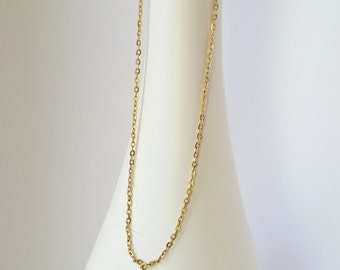 Vintage Chain, Gold Chain, Medium Gold Chain, Gold Tone Chain, Vintage Necklace, Gifts for Her, Layering Necklace, Jewelry Supplies