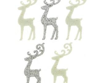 Elegant Reindeer Christmas  WinterButtons 7076