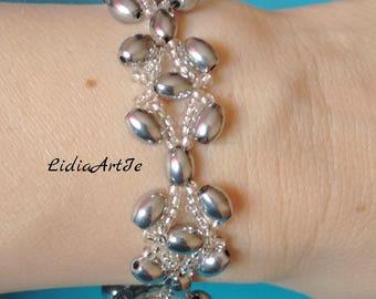 Silver hematite bracelet,party bracelet,Summer bracelet