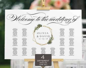 Seating Chart Template| Seating Chart Wedding | Seating Plan | Table Plan | Seating Plan Wedding| Alphabetical Wedding Seating Chart | ecc