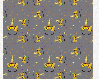 Unicorn all over pattern, compliments our one of a kind quote uni,  Fabric Panel | Sewing | Craft | Printed Fabric Panels