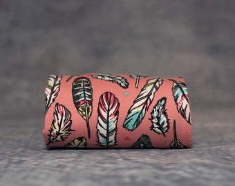 Luxurious Handmade Pink Feather Baby Leggings