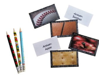 Printable Lunchbox Notes - Guess the Picture (with answers!) - Enough for the whole school year!
