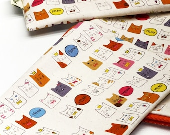 Cute Cat-Mew, Reusable Snack Bags, Zippered Pouch, Waterproof pouches, Pouch Set, Snack & Sandwich Bags, Animal pouch, feline, pussy, kitty