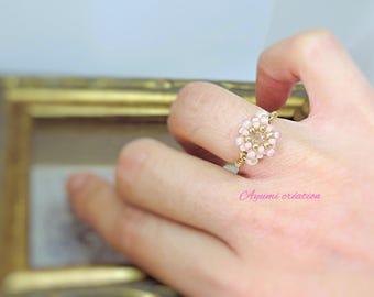 Ring adjustable cherry by Ayumi creation