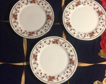 Vintage Sheffield  Anniversary  bread plates sey of 3