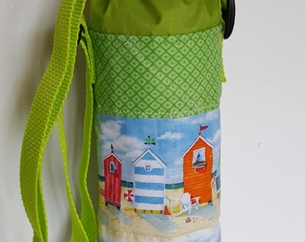 Beach Houses -  Water/Wine Bottle Carrier with strap