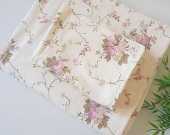 Flannelette Single Flat Sheet and Pillowcase