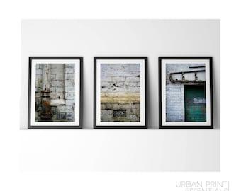 White Wall Triptych - Premium Quality – Wall Art - Giclée Print – Urban Art - Martin Sylvester - Sylvo81