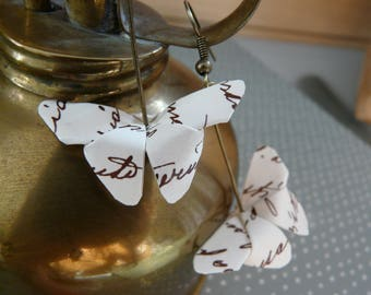 Origami Butterfly writing paper, origami butterfly earrings