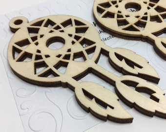 3 Dreamcatcher Die Cuts, Chunky Die Cuts, Indian Dreamcatcher Papercraft Ideas,Craft Ideas,Native American Gift,Super Thick Chunky Die Cuts
