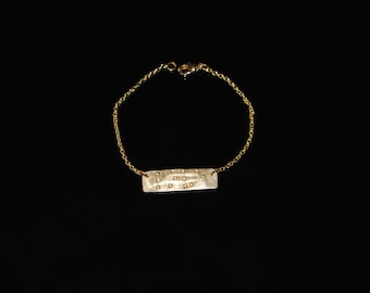 Love is Blind Braille Brass Chain Bracelet