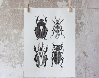 The Beetle | Linocut Print