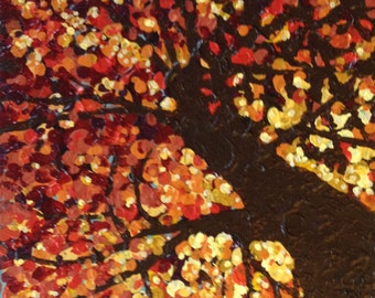Looking Up in Fall Painting