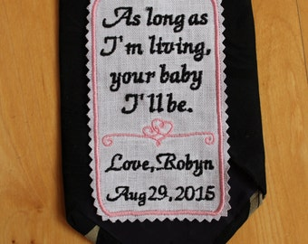 Father of the Bride Tie Patch. Embroidered Wedding Tie Patch, Personalized, CUSTOM tie patches. Personalized Wedding Gift for Dad