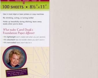 "Foundation Paper by Carol Doak - 100 Sheets  8 1/2"" x 11""  - Freezer Paper - Applique Paper - Paper Piecing"