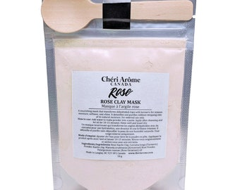 Rose clay mask pink clay mask