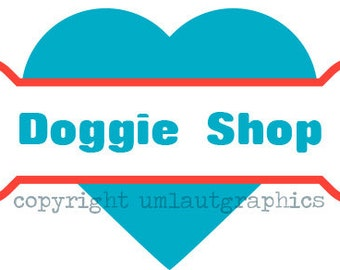 Pre Made Pet Dog Bone Logo Etsy Shop Branding