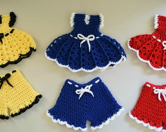Dress and Panties Potholder - Hot pad - Trivet - Crochet Hot Pad - Crochet Pot Holder - Housewarming Gift - Mother's Day Gift
