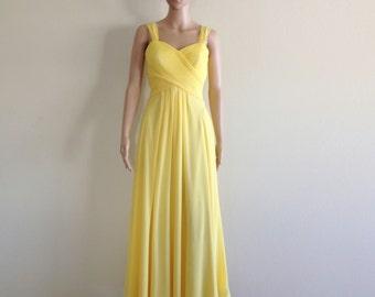 Yellow Prom Dress. Yellow Maxi Dress. Long Bridesmaid Dress