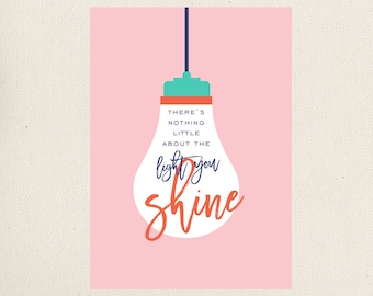 The Light You Shine Greeting Card