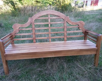 The bench is wooden