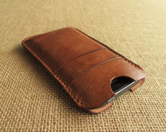 Leather iPhone SE, iPhone 5 case, handmade sleeve, cover