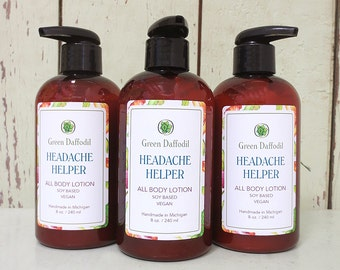 Headache Helper Soy Hand & Body Lotion - Green Daffodil - VEGAN -SL8