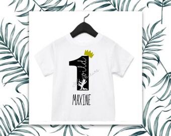 Customizable Wild One First Birthday Shirt