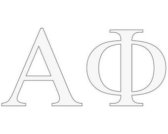 alpha phi letter window decal