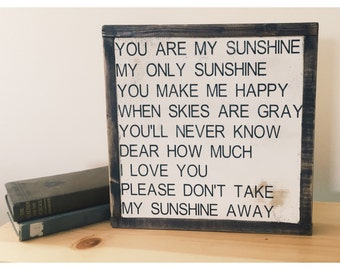 You are my Sunshine | Wood Sign | Nursey Decor