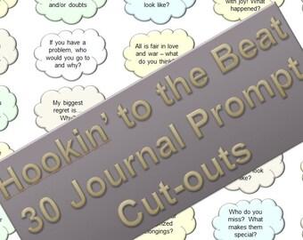 Journal Prompts (Clouds-1) - Bullet Journal Insert - INSTANT DOWNLOAD - Pastel