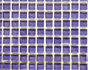100 (10mm) MINI Violet Grape Purple Crystal Glass Mosaic Tiles 3/8 in.//Mosaics/ Mosaic Supplies//Crafts