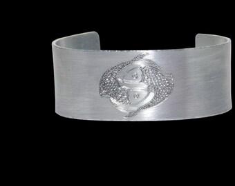 Custom Personalized Pisces Zodiac, Celestial bracelet, Constellation cuff bracelet, Pisces zodiac jewelry, Pisces birthday gift