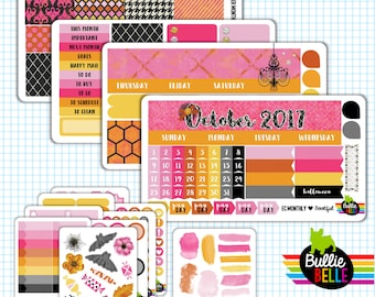 Bootiful - Monthly Planner Sticker Kit - October - Halloween Monthly Stickers - use with ECLP or Classic Happy Planner / Large Happy Planner