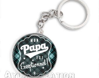 Cabochons glass 25mm #PA_CP08 dad keychain
