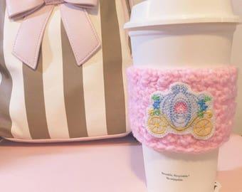 Cinderella cup cozy, Carriage cup cozy, Cup cozy, Cup cozies, Cinderella