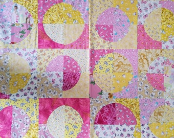 Yellow and Pink cotton baby blanket for the intellectually stimulated baby