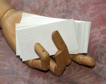 Business Card Blanks (100) ... Watercolor Paper White Textured Strathmore Seller Supplies Paint Artist Cardstock Cold Press Biz Cards