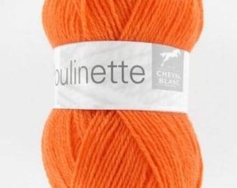Yarn baby POULINETTE No. 271 horse white orange colors